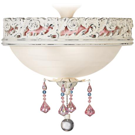 Pretty In Pink Pull Chain Ceiling Fan Light Kit - #13985 | LampsPlus.