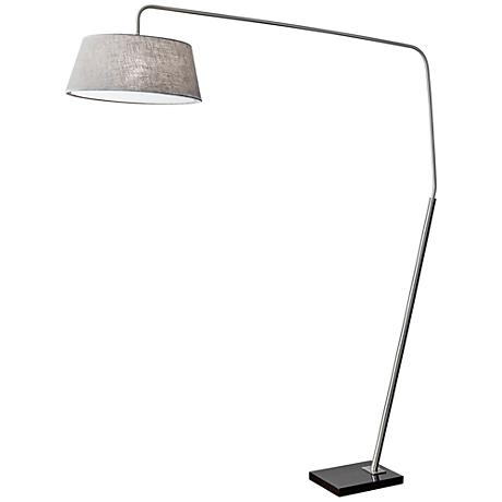 Ludlow Brushed Steel Arc Floor Lamp 13a50 Www