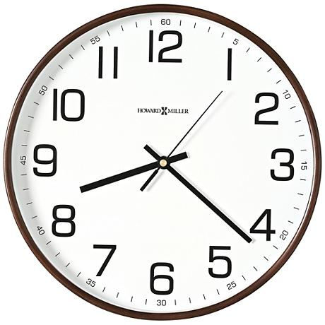 "Howard Miller Kenton 12 1/2"" Round Espresso Wall Clock"
