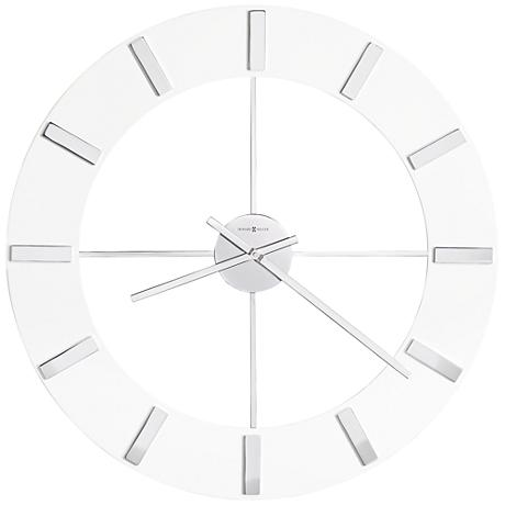 "Howard Miller Pearl 30"" Round High-Gloss White Wall Clock"