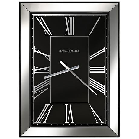 "Howard Miller Ceara 30 3/4"" High Gloss Black Wall Clock"
