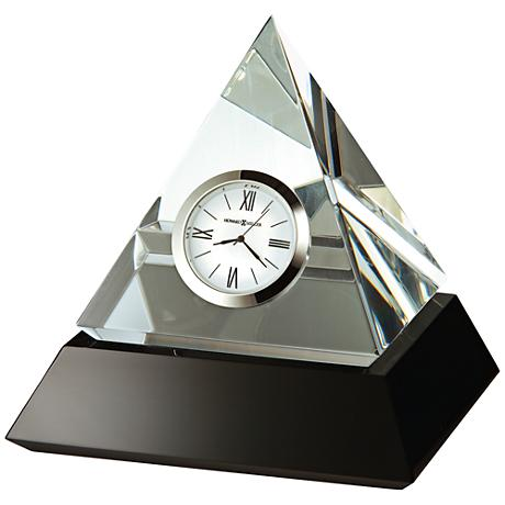 "Howard Miller Summit 5 1/4"" High Solid Glass Pyramid Clock"