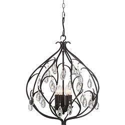 "Osiris 22"" Wide Bronze 5-Light Chandelier"