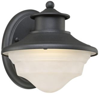 "Stokes 7 1/4"" High Black LED Outdoor Wall Light (13T84) 13T84"