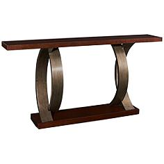 Masterpiece Sergio Antique Walnut and Gun Metallic Console