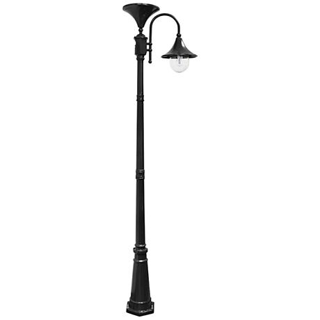"Everest 92"" High Black Solar LED Outdoor Post Light"