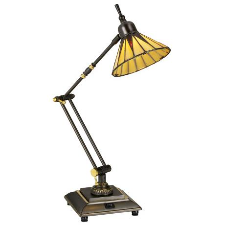 Gotham Tiffany Style Downbridge Desk Lamp