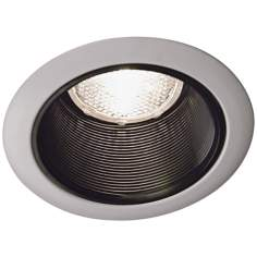 "Lightolier 6"" Black Baffle White Trim Recessed Light"