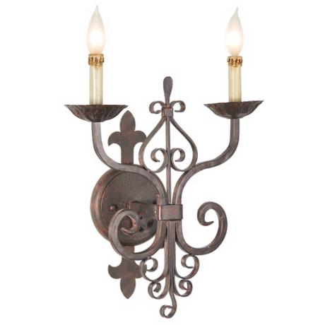 "Kathy Ireland Latin Palace 18"" High Wall Sconce"