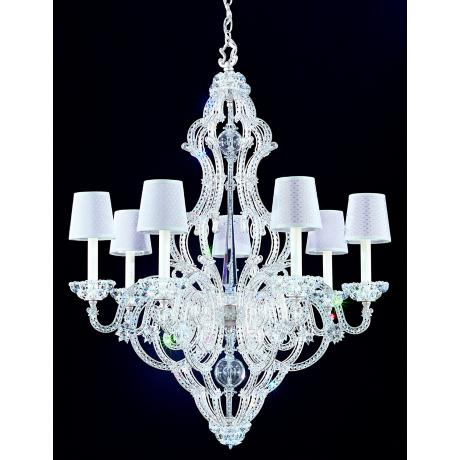"Schonbek Zade Collection 28"" Wide Chandelier with Shades"