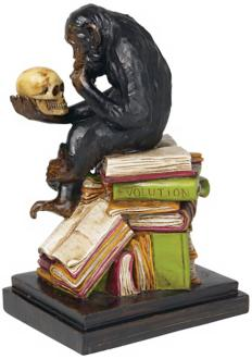 Monkey Book End Sculpture