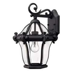"La Cumbre Black Finish 14 1/2"" High Outdoor Wall Light"