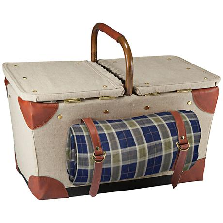 Pioneer Natural Canvas Picnic Basket