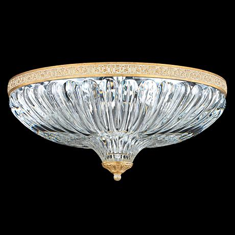 "Schonbek Milano 16""W Parchment Gold Crystal Ceiling Light"