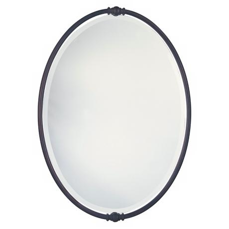 Murray Feiss Boulevard Collection Oval Wall Mirror