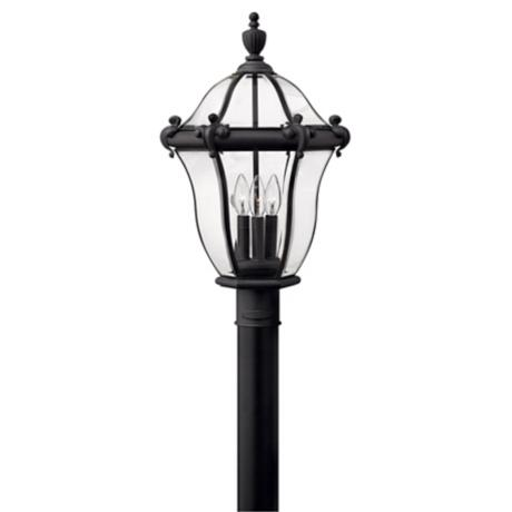 "La Cumbre 23"" High Black Finish Outdoor Post Light"