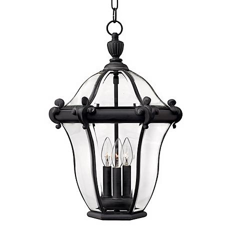 "Hinkley San Clemente 22"" High Black Outdoor Hanging Light"