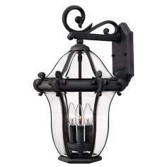 "Hinkley La Cumbre Black Finish 21"" High Outdoor Wall Light"