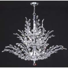 "James R. Moder Florale Collection Silver 41"" Wide Chandelier"