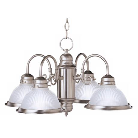 Cape May Brushed Nickel Four Light Chandelier
