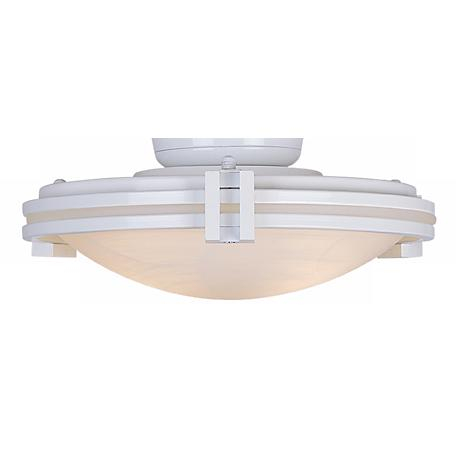 White with Alabaster Glass Fan Light Kit