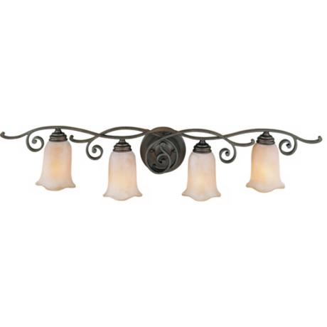 "Romana Collection 38"" Wide Bathroom Light Fixture"