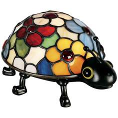 Quoizel Flowered Ladybug Tiffany Style Accent Light