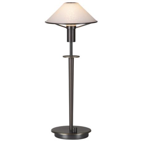 Holtkoetter White Glass Shade Olde Bronze Halogen Desk Lamp