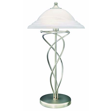 Lite Source Satin Steel Twist Wire Table Lamp