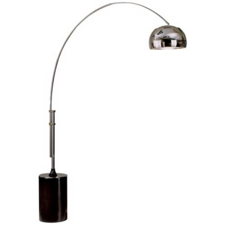 Nova Chrome Arc Adjustable Floor Lamp