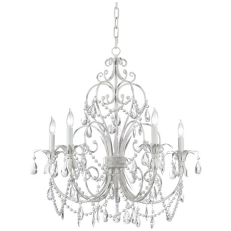 Winterset Collection Antique Cream Five Light  Chandelier