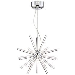 "Possini Euro Multi Tube 19 1/4""W Chrome LED Pendant Light"