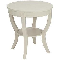 Patterson White Wash Round Wood End Table