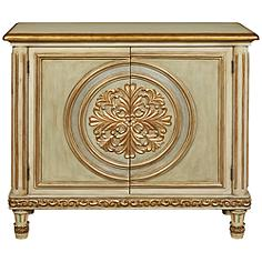 PFC Accents Ornate Medallion 2-Door Hall Chest