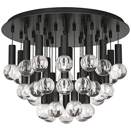 hinkley hampton 26 wide brushed bronze ceiling light u3671. Black Bedroom Furniture Sets. Home Design Ideas