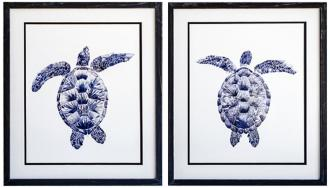 "Marine Turtle I & II 2-Piece 22 1/2""H Framed Art Set (15Y53) 15Y53"
