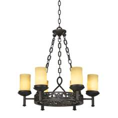 "La Parra Collection 28"" Wide Six Light Chandelier"