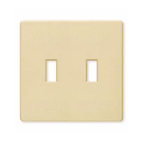 Lutron 2 Gang Screwless Ivory Wall plate