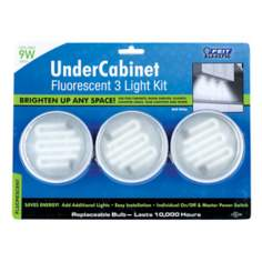 9 Watt 3-Pack  Fluorescent Under Cabinet Light
