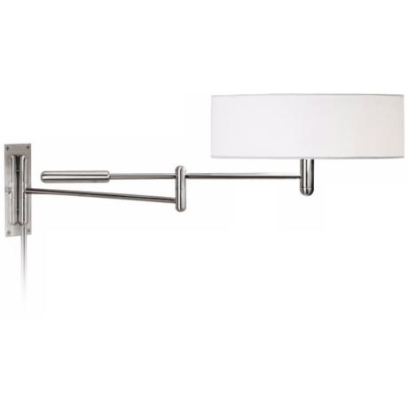 Sonneman Perno Polished Nickel Plug-In Swing Arm Wall Lamp