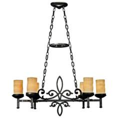 "La Parra Collection 38 1/2"" Wide 6-Light Island Chandelier"