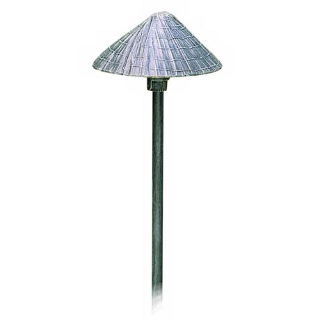 "Thatched Roof Shade Verde Finish 21"" High Path Light"