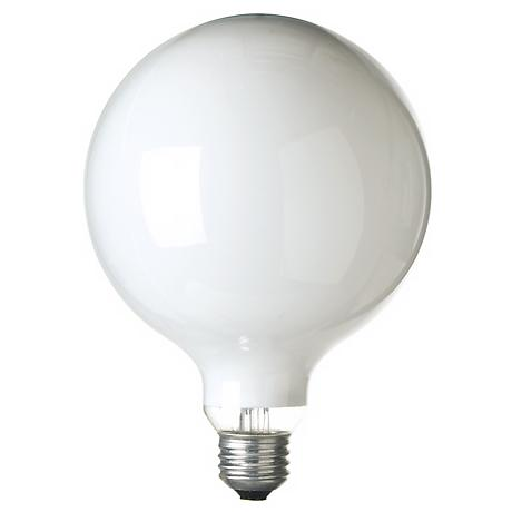 G.E. 150 Watt G-40 White Light Bulb