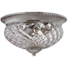 "Plantation Collection Antique Nickel 16"" Wide Ceiling Light"