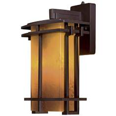 "Lugarno Square 15 3/4"" High Bronze Outdoor Light"