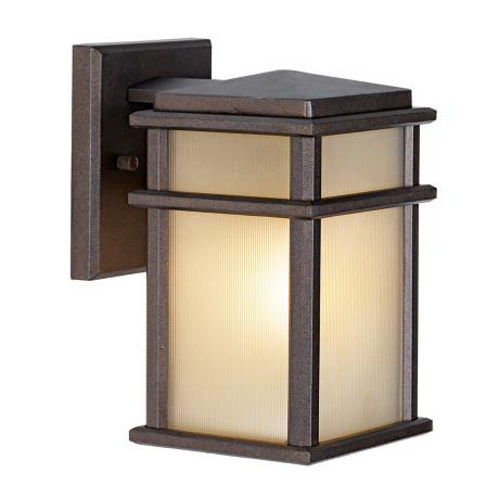 "Mission Lodge Collection Bronze Wall Mount 9"" High Lantern"