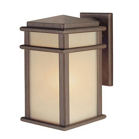 "Feiss Mission Lodge 12 1/2"" High Wall Mount Lantern"