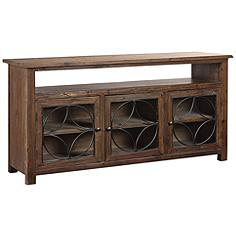 Uttermost Dearborn Chocolate Brown Wood 3-Door Credenza