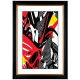"Giclee Swirl Center 41 3/8"" High Wall Art"