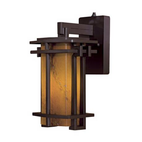 "Lugarno Square 13 3/4"" High Bronze Outdoor Light"